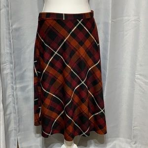 Festive looking plaid skirt